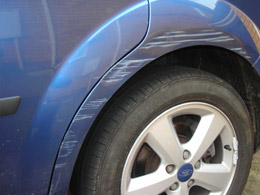 Van paintwork damage